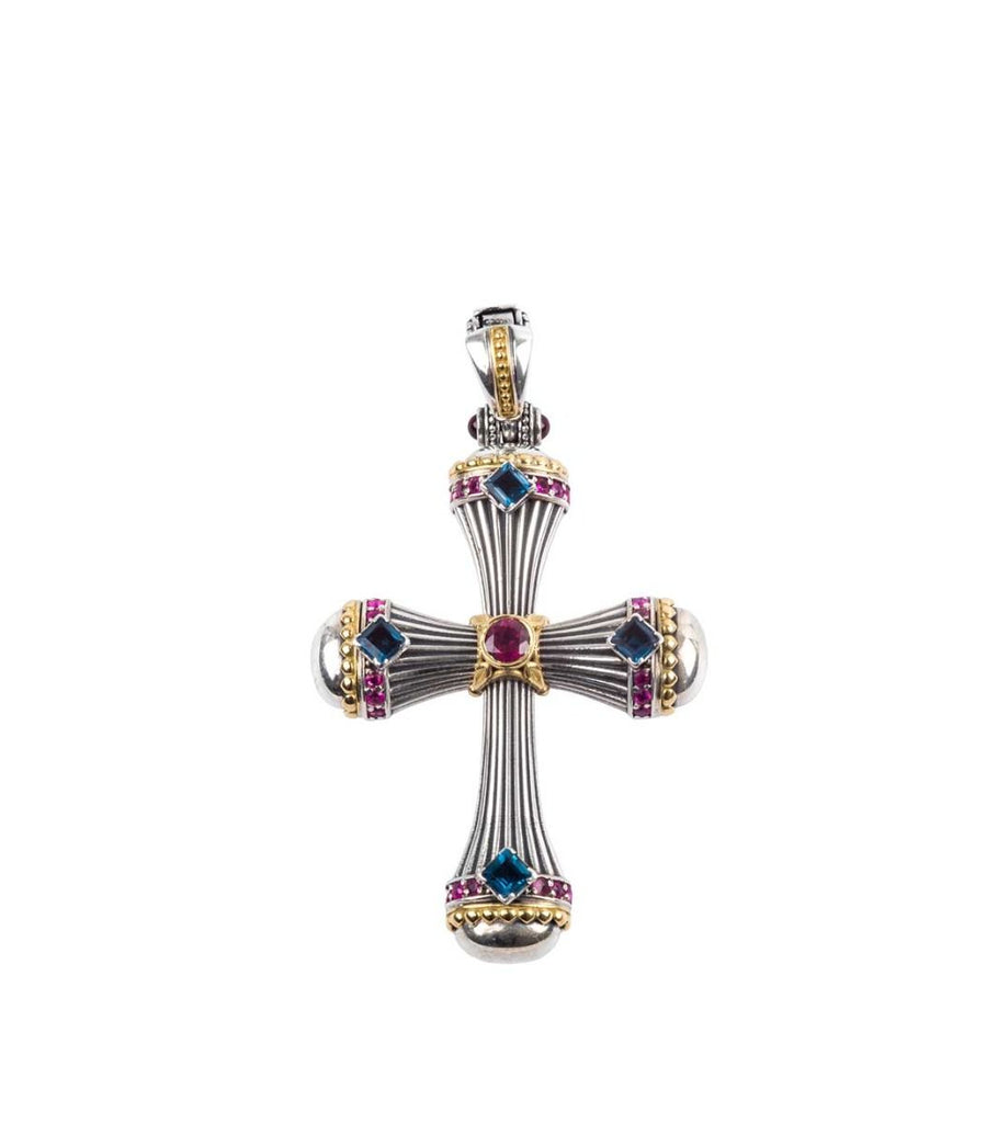 Sterling Silver & 18k Gold Cross