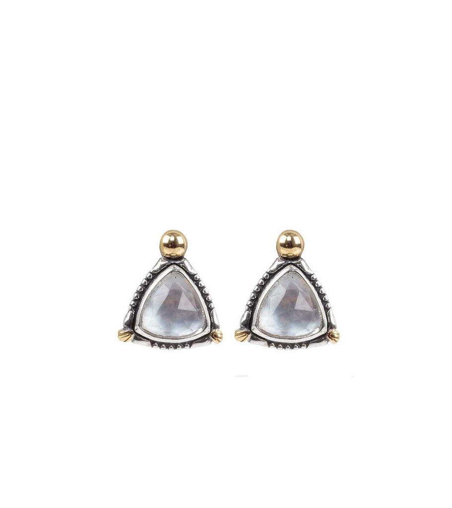 Sterling Silver & 18k Gold Mother of Pearl Earrings