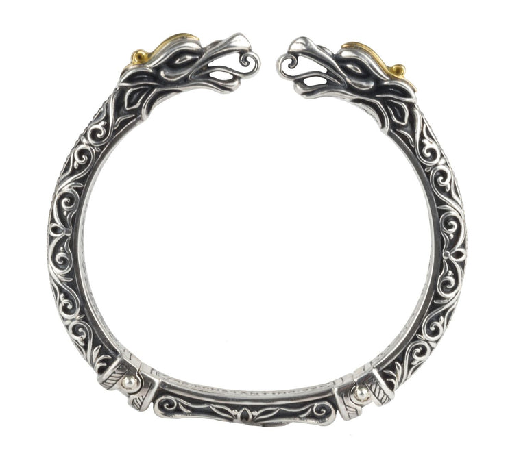 Hinged Dragon Head Bracelet