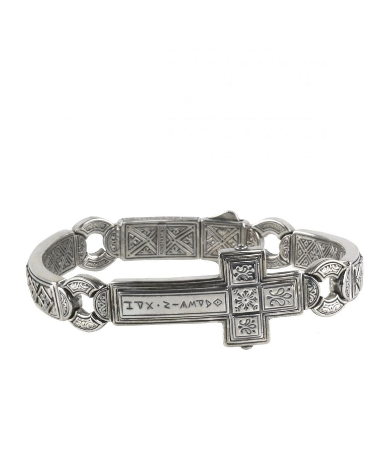 Sterling Silver Dare Cross Bracelet