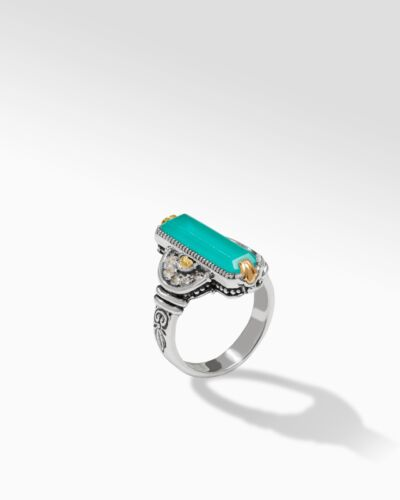 Sterling Silver & 18K Gold Aqua Pura Ring
