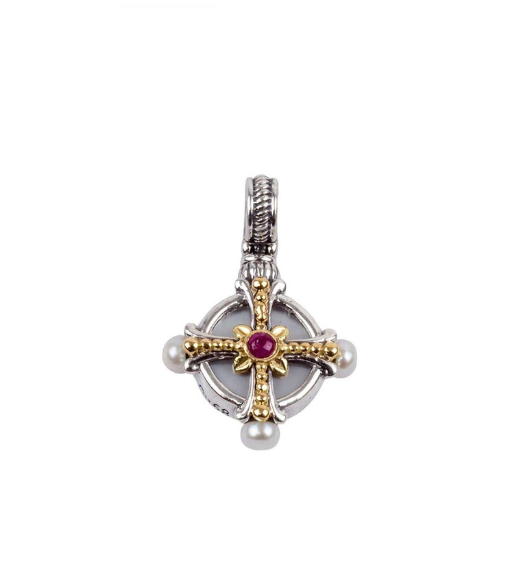 Sterling Silver & 18k Gold Pendant