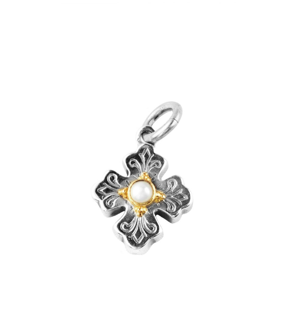 Sterling Silver & 18k Gold Charm
