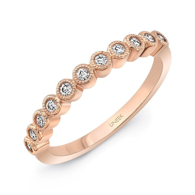 14k Diamond Rose Gold Band