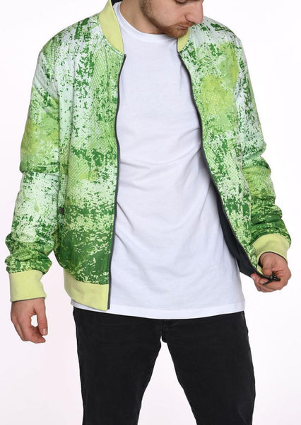 DOUBLE FACE BOMBER JACKET  GERONIMO GREEN GRUNGE