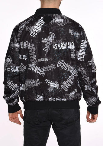 DOUBLE FACE BOMBER JACKET  GERONIMO BLACK TEXTURE
