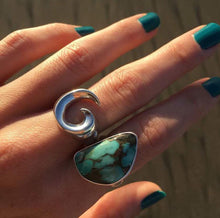 Curl Silver Ring