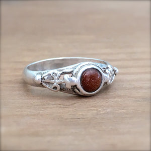 Vintage Goldstone Stacking Ring
