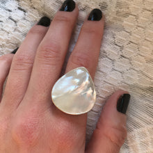 Mermaid Tear Mother of Pearl & Silver Ring