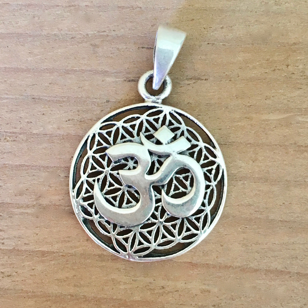 Om Flower of Life Pendant