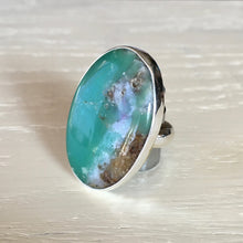 Chrysoprase and Silver Ring