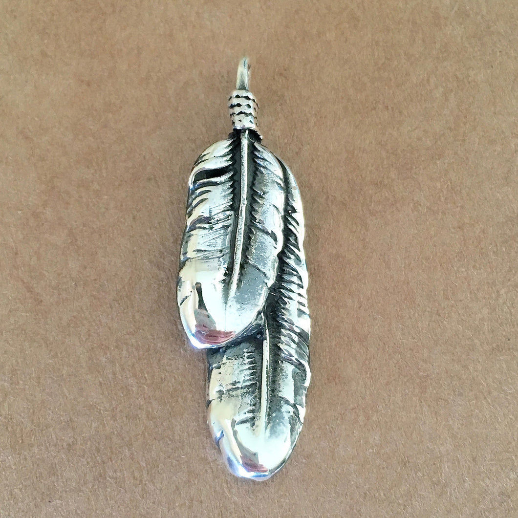 Boho Feather Pendant