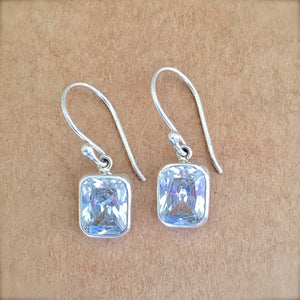 Zirconia and Silver Earrings