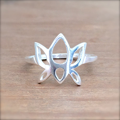 Lotus Flower Stacking Ring