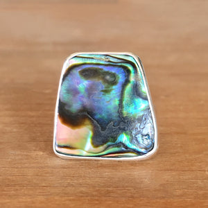 Abalone and Silver Ring
