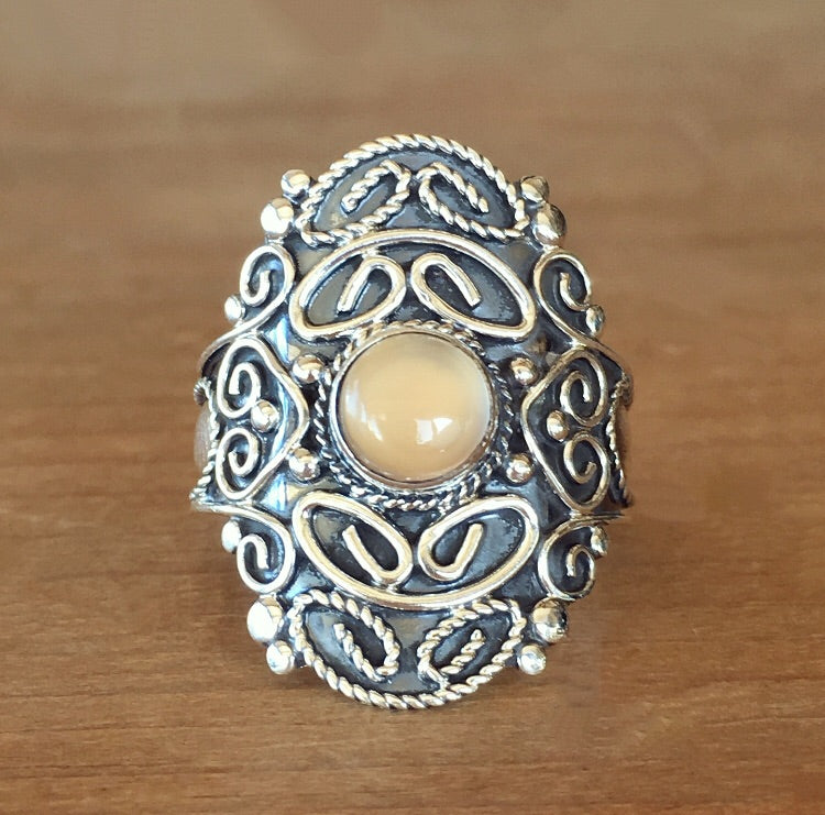 Guidance Chalcedony Ring