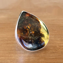 Baltic Amber and Silver Ring