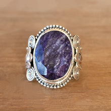 Sapphire and Silver Ring