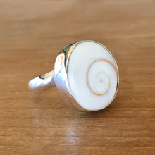 Shiva Shell and Silver Ring