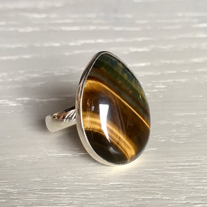 Tiger Eye and Silver Ring