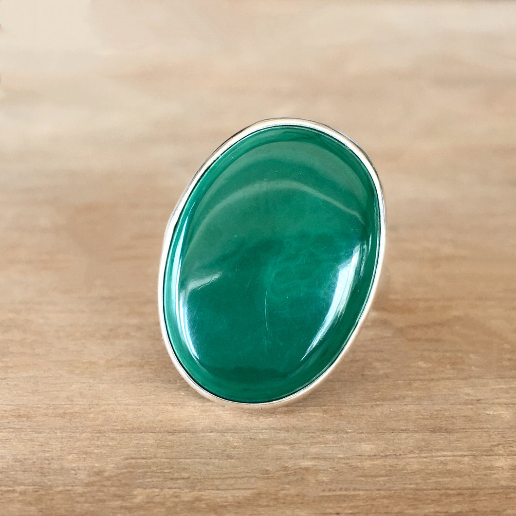 Malachite and Silver Ring