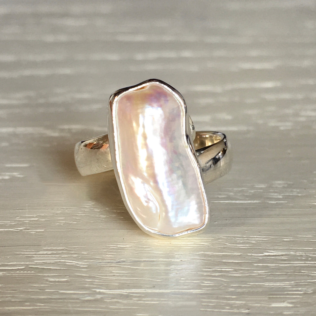 Mother of Pearl and Silver Ring