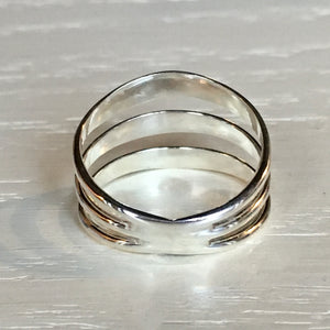 Triple Band Silver Ring