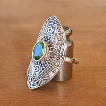 Manifest Peridot and Silver Ring