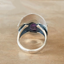 Faceted Amethyst and Silver Ring