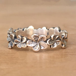 Plumeria Stacking Ring
