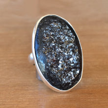 Pyrite and Silver Ring