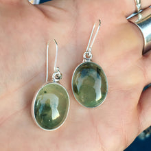 Prehnite and Silver Earrings