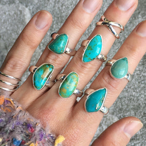 Turquoise and Silver Rings