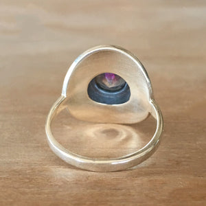 Mystic Topaz and Silver Ring