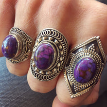 Purple Turquoise and Silver Ring