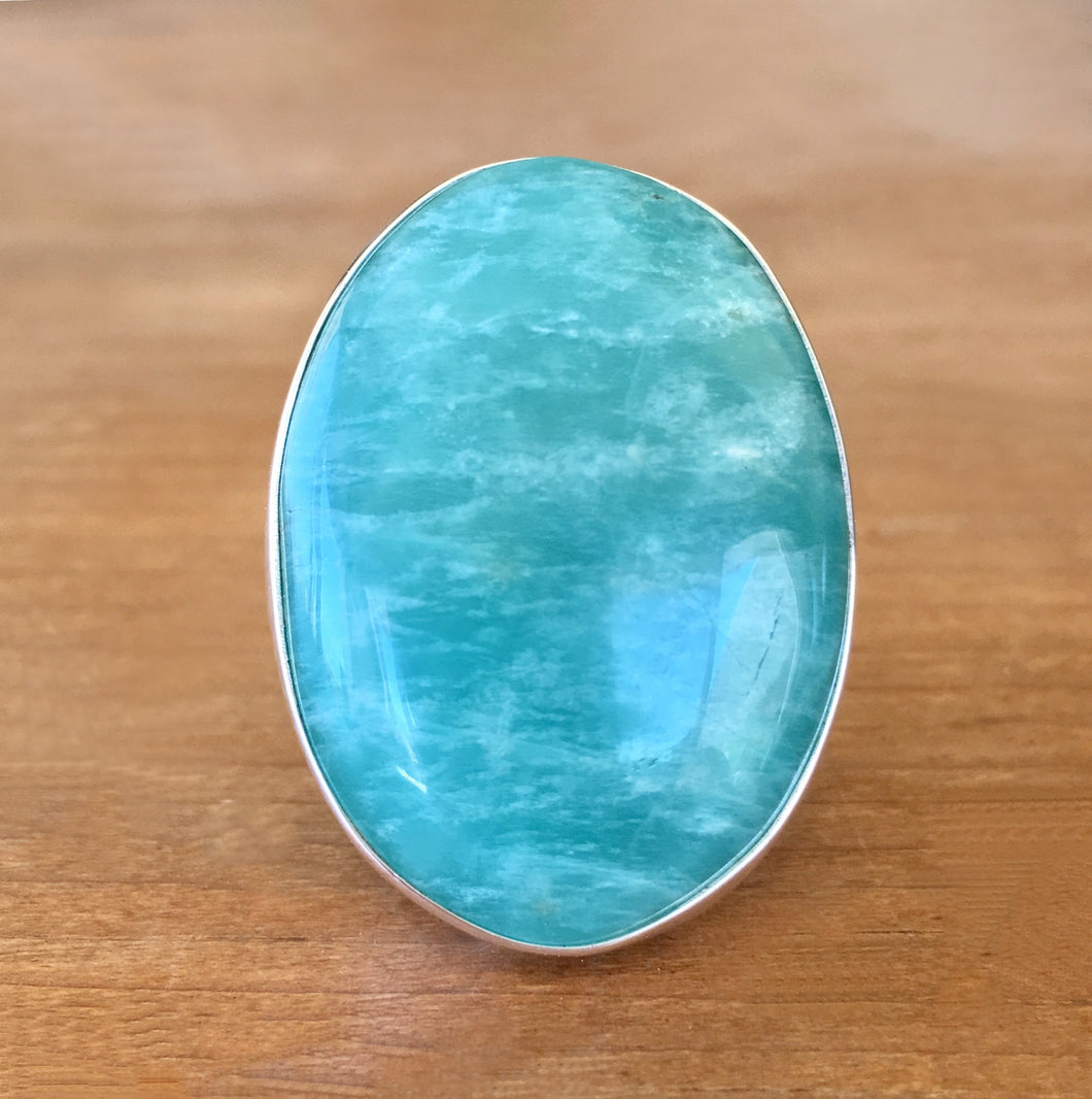 Amazonite and Silver Ring