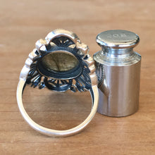 Labradorite and Silver Ring - size 8.5