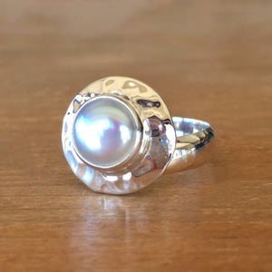 Pearl and Silver Ring