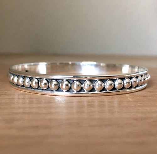 Zen Tribe Silver Bangle Bracelet
