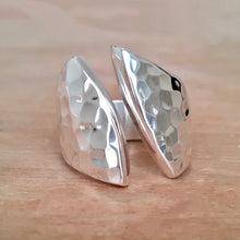 Phoenix Slit Hammered Ring