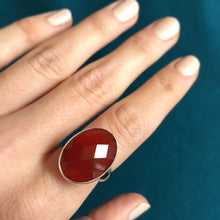 Carnelian and Silver Ring