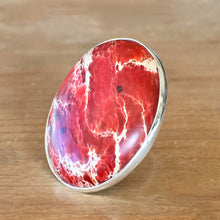 Jasper and Silver Ring