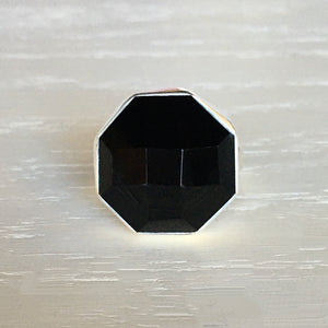 Onyx and Silver Ring