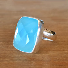 Chalcedony and Silver Ring