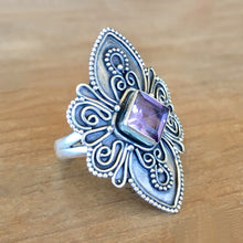 Bondi Amethyst and Silver Ring - size 7.5