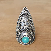 Temple Turquoise and Silver Ring
