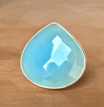 Blue Chalcedony and Silver Ring