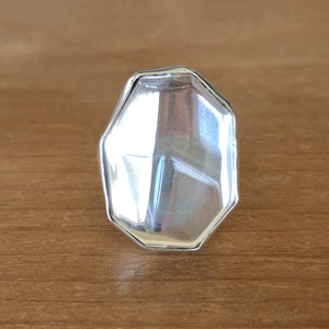 Clear Quartz and Silver Ring
