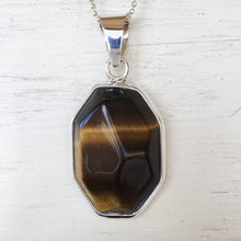 Tiger Eye and Silver Pendant