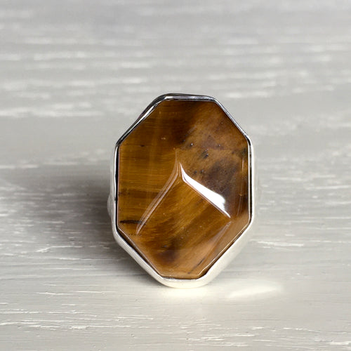 Tiger's Eye and Silver Ring